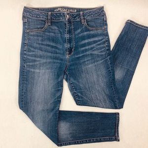 American Eagle Womens Jeans 12 Short Blue Jegging